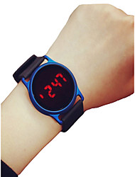 Недорогие -Муж. Жен. Спортивные часы Наручные часы Цифровой 30 m Секундомер ЖК экран Повседневные часы силиконовый Группа Цифровой На каждый день минималист Черный / Синий / Роуз - Черный / Синий Черный / Rose