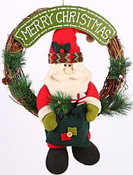 baratos -Guirlandas / Enfeites de Natal Férias De madeira / Plástico Redonda Novidades Decoração de Natal