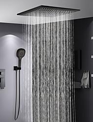 Недорогие -Смеситель для душа - Современный Окрашенные отделки Душевая система Керамический клапан Bath Shower Mixer Taps / Латунь / Одной ручкой три отверстия