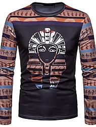 baratos -Homens Camiseta Boho Estampado, Retrato