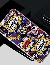 economico -Custodia Per Apple iPhone X / iPhone 8 Traslucido / Fantasia / disegno Per retro Frasi famose Morbido TPU per iPhone X / iPhone 8 Plus / iPhone 8