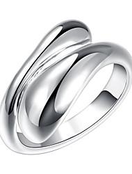 Недорогие -Жен. Кольцо - Серебрянное покрытие, Сплав Открытые Регулируется Серебряный Назначение Для вечеринок