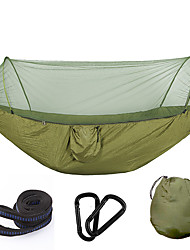 cheap -Camping Hammock with Mosquito Net Outdoor Breathability Polyster for Hiking / Camping - 1 person Fuchsia / Army Green / Camouflage