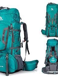 Недорогие -80 L Рюкзаки / Заплечный рюкзак - Дожденепроницаемый, Быстровысыхающий, Пригодно для носки На открытом воздухе Охота, Пешеходный туризм, Походы Нейлон Оранжевый, Зеленый, Синий