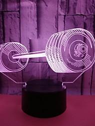 Недорогие -1шт Розетка 3D ночной свет Поменять USB Очаровательный / Сенсорный датчик / Атмосферная лампа 5 V