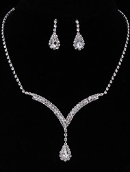 cheap -Women's Classic Jewelry Set - Sweet Include Drop Earrings / Charm Necklace Silver For Party / Engagement