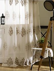 Недорогие -занавески шторы две панели спальня цветочная вышивка полиэстер