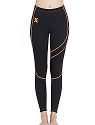 abordables -Femme Pantalon de Combinaison 3mm SCR Néoprène Bas Garder au chaud, Résistant aux ultraviolets Surf / Snorkeling Rayure Automne / Hiver / Elastique