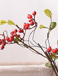 cheap -Artificial Flowers 1 Branch Classic Modern / Contemporary / Pastoral Style Fruit Tabletop Flower