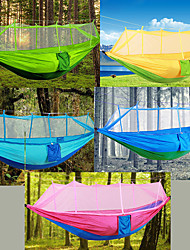 cheap -Camping Hammock with Mosquito Net Outdoor Lightweight, Breathability Nylon for Hiking / Camping - 2 person Blushing Pink / Yellow / Dark Green