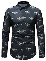 Недорогие -Муж. Рубашка Классический Животное