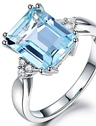 cheap -Women's Cubic Zirconia Stylish Ring - Copper 6 / 7 / 8 / 9 / 10 Light Blue For Daily