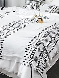 Недорогие -Одеяла, Геометрический принт Хлопок / полиэфир Сгущать одеяла