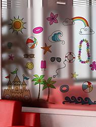 Недорогие -Оконная пленка и наклейки Украшение Простой Персонажи ПВХ Стикер на окна