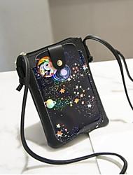 Недорогие -Жен. Мешки PU Мобильный телефон сумка Пуговицы Черный / Розовый / Серый