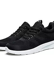 cheap -Men's Mesh / Elastic Fabric Fall Comfort Athletic Shoes Running Shoes Color Block Black / Dark Grey / Light Grey