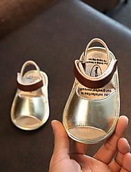 Недорогие -Девочки Обувь Овчина Лето Обувь для малышей Сандалии На липучках для Дети Золотой / Пурпурный / Розовый
