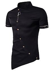 cheap -Men's Basic Shirt - Solid Colored Jacquard