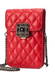 baratos -Mulheres Bolsas PU Telefone Móvel Bag Cor Única Rosa / Cinzento / Azul Céu