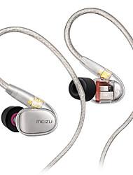 abordables -MEIZU EP71 Dans l'oreille Câble Ecouteurs Ecouteur Cuivre Téléphone portable Écouteur Avec Microphone Casque