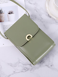 cheap -Women's Bags PU(Polyurethane) Mobile Phone Bag Buttons Blushing Pink / Beige / Coffee
