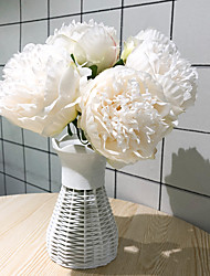 cheap -Artificial Flowers 5 Branch Classic Modern / Contemporary / European Peonies Tabletop Flower