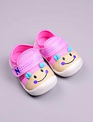 Недорогие -Мальчики Обувь Хлопок Весна & осень Обувь для малышей Кеды На липучках для Дети Красный / Синий / Розовый / Контрастных цветов