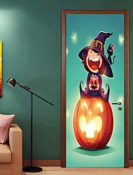 abordables -Pegatinas de puerta - Holiday pegatinas de pared / Pegatinas de pared de personas Escénico / Halloween Habitación de bebés / Habitación de Niños