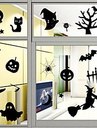 Недорогие -Оконная пленка и наклейки Украшение Хэллоуин / Рождество Однотонный ПВХ Стикер на окна / Спальня / Для гостиной