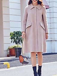 olcso -Alkalmi Állógallér Női Kabát - Egyszínű