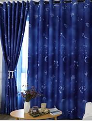 Недорогие -Солнцезащитные Шторы портьеры 2 шторы 2*(W140cm×L259cm) Синий / Спальня