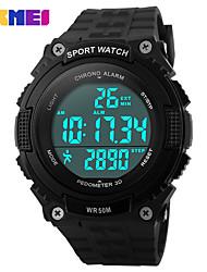 Недорогие -SKMEI Муж. Жен. Спортивные часы электронные часы Цифровой 30 m Защита от влаги Календарь Секундомер силиконовый Группа Цифровой На каждый день Черный / Зеленый - Черный Зеленый