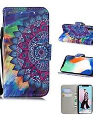 Недорогие -Кейс для Назначение Apple iPhone XS / iPhone XR / iPhone XS Max С узором Чехол Мандала / Масляный рисунок / Цветы Твердый Кожа PU