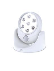 Недорогие -HKV 1шт LED Night Light Холодный белый Аккумуляторы AA Датчик человеческого тела Батарея