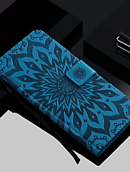 baratos -Capinha Para Samsung Galaxy Galaxy S10 / Galaxy S10 Plus Carteira / Porta-Cartão / Com Suporte Capa Proteção Completa Flor Rígida PU Leather para S9 / S9 Plus / S8 Plus