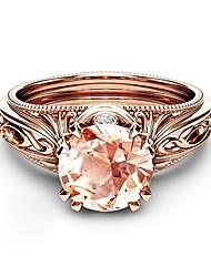 abordables -Femme Bague - Plaqué Or Rose, Imitation Diamant Pétale Coréen, Mode, Elégant 6 / 7 / 8 / 9 / 10 Or Rose Pour Night out & Special occasion Rendez-vous