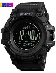 Недорогие -SKMEI Муж. Спортивные часы электронные часы Цифровой 30 m Защита от влаги Bluetooth Календарь силиконовый Группа Цифровой На каждый день Черный / Синий / Красный - Красный Зеленый Синий / Секундомер