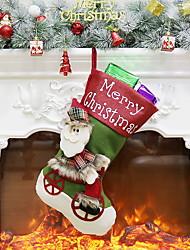 baratos -Meias Finas / Bolsa Desenho Plástico Brinquedo dos desenhos animados Decoração de Natal