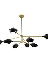 abordables -ZHISHU 8 lumières Nouveauté Lustre Lumière dirigée vers le bas Finitions Peintes Métal Style mini 110-120V / 220-240V Ampoule non incluse
