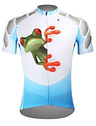 Недорогие -ILPALADINO Муж. С короткими рукавами Велокофты - Синий Лягушка Велоспорт Джерси Верхняя часть Дышащий Быстровысыхающий Ультрафиолетовая устойчивость Виды спорта Полиэстер 100% полиэстер Терилен