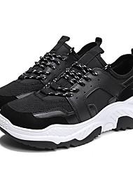 abordables -Homme Sneakers Clunky Maille / Polyuréthane Automne Classique / Décontracté Chaussures d'Athlétisme Course à Pied / Marche Respirable Noir / Gris