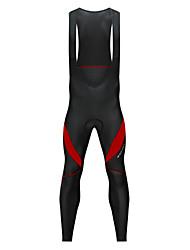 Недорогие -WOSAWE Муж. Велокомбинезоны Велоспорт Биб Колготки Сохраняет тепло, Флисовая подкладка, Со светоотражающими полосками Пэчворк Спандекс Черный / Белый / Черный / красный Одежда для велоспорта
