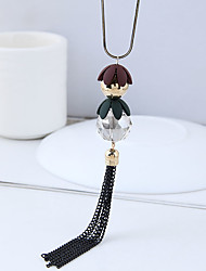 cheap -Women's Tassel / Long Pendant Necklace / Long Necklace - Ball Dangling Style, European, Fashion Black 70 cm Necklace Jewelry 1pc For Causal, Daily