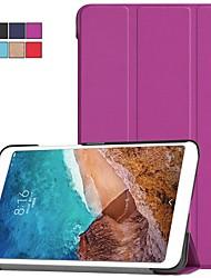 Недорогие -Кейс для Назначение Xiaomi Xiaomi Tab 4 со стендом / Флип / Оригами Чехол Однотонный Твердый ПК для Xiaomi Tab 4