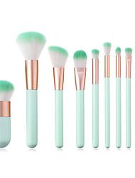 billiga -10-Pack Makeupborstar Professionell Smink Fiber Fullständig Täckning Trä / Bambu