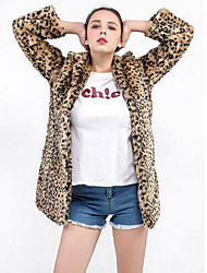economico -Cappotto di pelliccia Per donna Essenziale - Leopardata