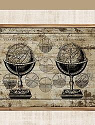 baratos -Mapas Decoração de Parede De madeira Esporte & lazer Arte de Parede, Tapeçarias Decoração