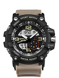 Недорогие -SANDA Муж. Спортивные часы Наручные часы Японский Японский кварц 30 m Защита от влаги Календарь С двумя часовыми поясами Нержавеющая сталь Группа Аналого-цифровые На каждый день Мода / Два года