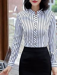 cheap -Women's Work Shirt - Striped