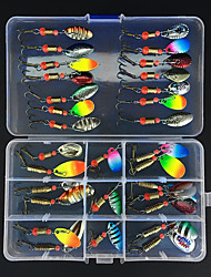 baratos -31 pcs Iscas Colheres Metal Fácil Uso Pesca de Mar / Pesca Voadora / Isco de Arremesso / Pesca no Gelo / Rotação / Pesca de Gancho / Pesca de Água Doce / Pesca de Carpa